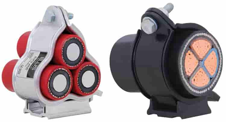 <strong>Ellis Patents Alpha Trefoil Cable Cleats - </strong>Cable cleatused in the above applications