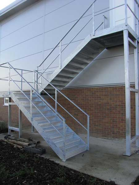 <strong>Thermon FLX Heat Tracing Cables can be used to frost protection external fire escape stairs.</strong> T&D & Thermon can design and supply heat tracing systems for the protection of external steel or aluminium fire escape staircases and access walkways. Photograph: Storplan
