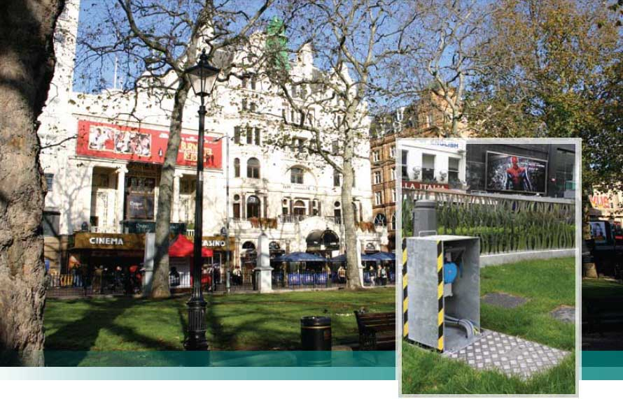 Lucy Zodion In-Ground Units for Leicester Square, London