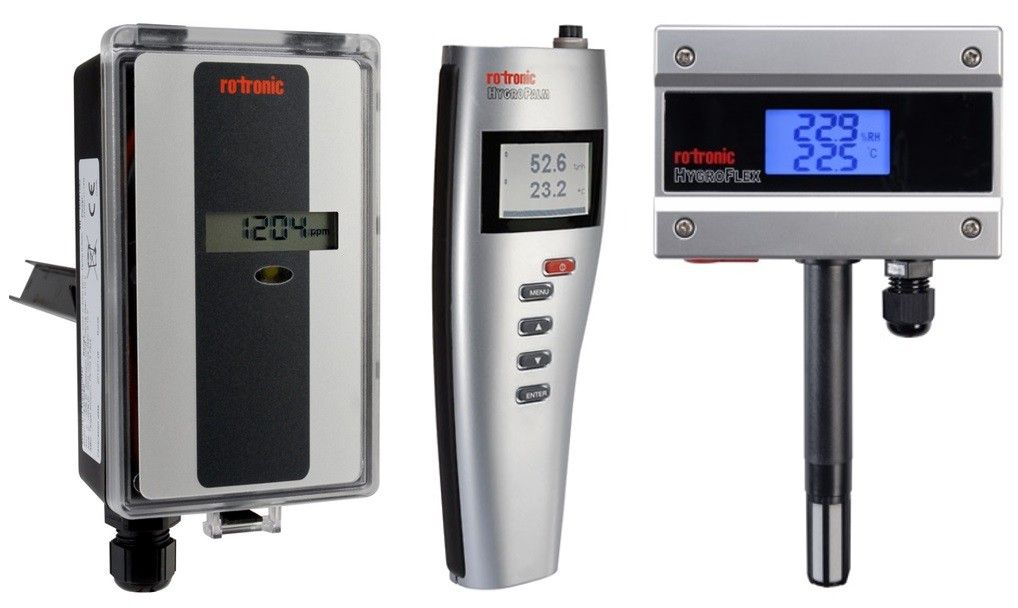 Rotronic CF3-D, HygroPalm-HP21, HygroFlex1-HF1
