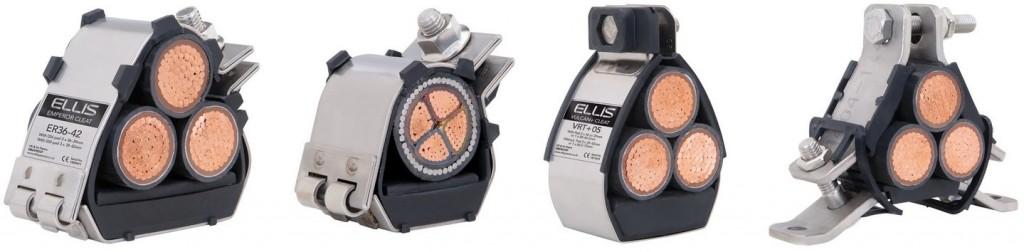 Ellis Patents Emperor Trefoil, Emperor Single, Vulcan Trefoil & Atlas Trefoil Cable Cleats