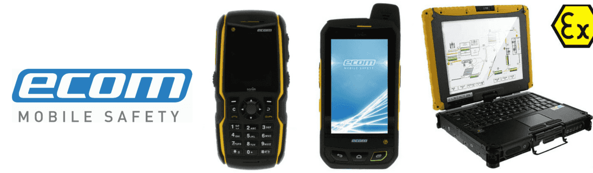 Ecom Hazardous Area Communications provide direct and remote communications for workers within Zone 1 and Zone 2 areas. These products remove the need to stop working to communicate resulting in less plant downtime.