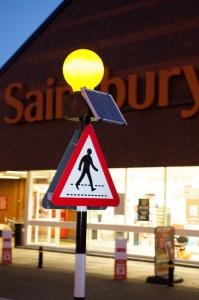 Belisha beacons for sainsburys