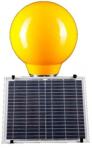 Solar belisha beacons